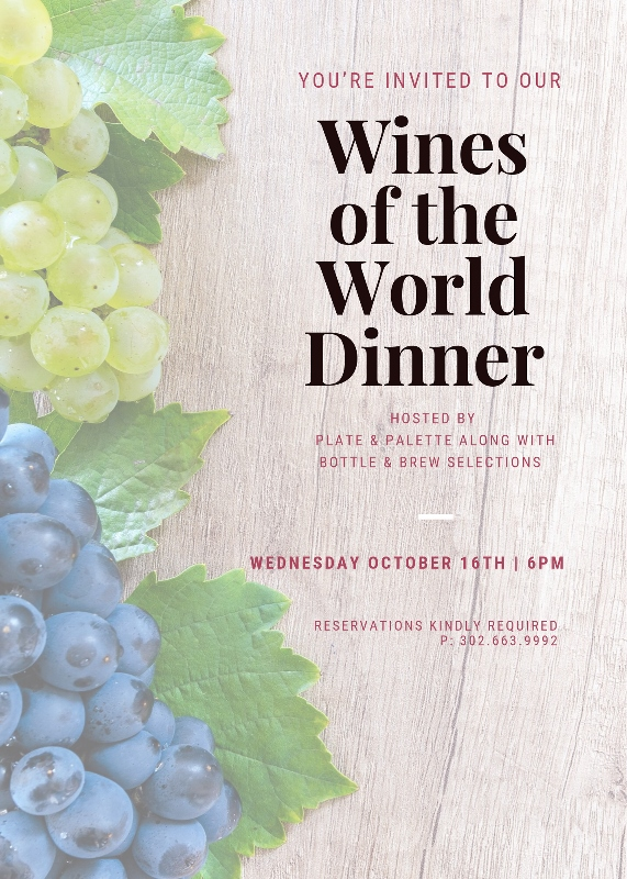 Wines of the World Dinner 571x800