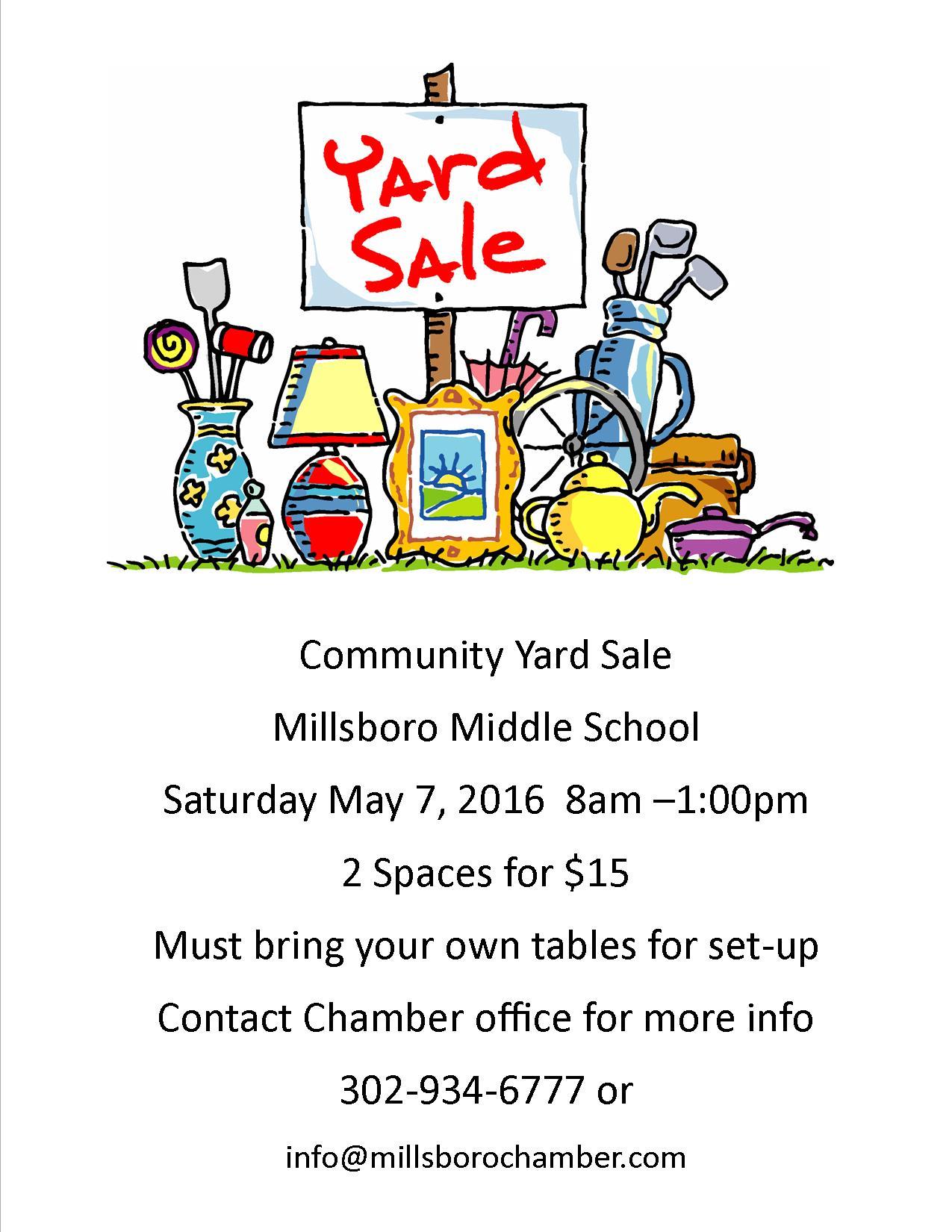 greater millsboro chamber of commerce community yard yard flyer